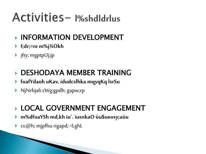 Activities-