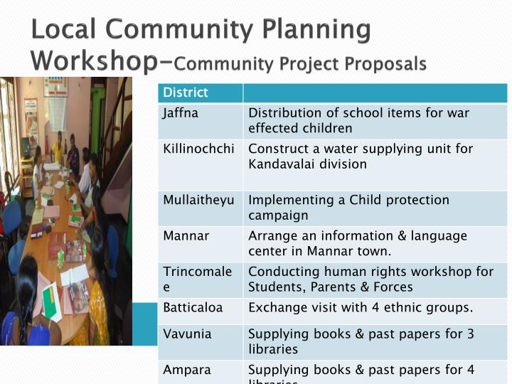 Local Community Planning Workshop-