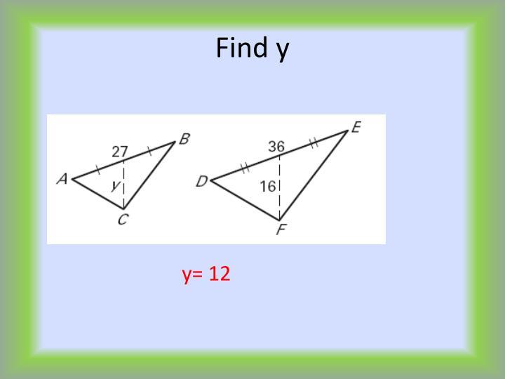 Find y