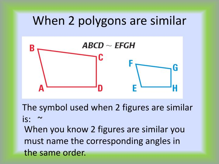 When 2 polygons are similar