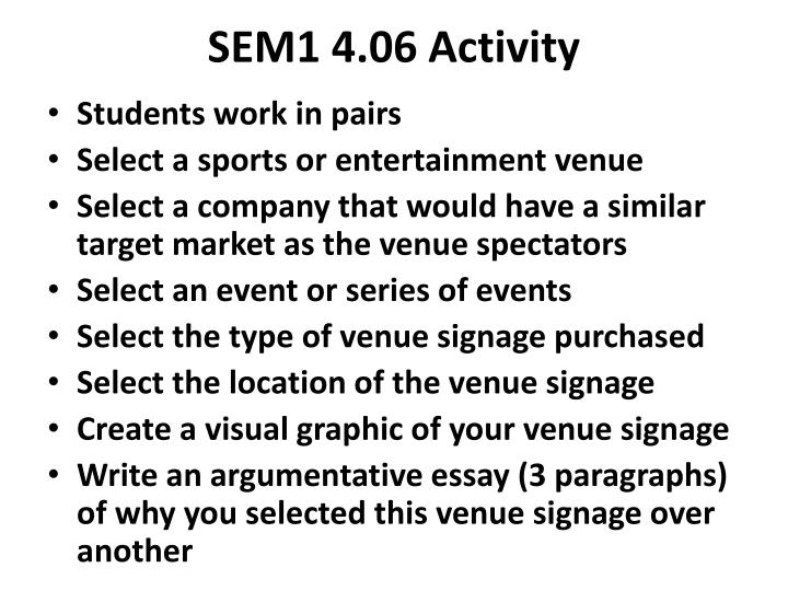 SEM1 4.06 Activity