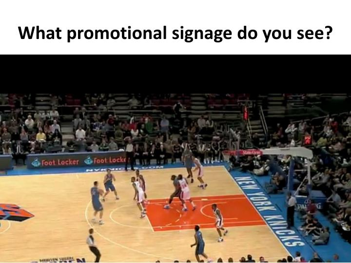 What promotional signage do you see?