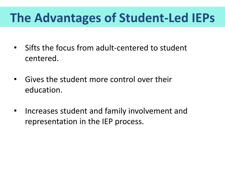 The Advantages of Student-Led IEPs