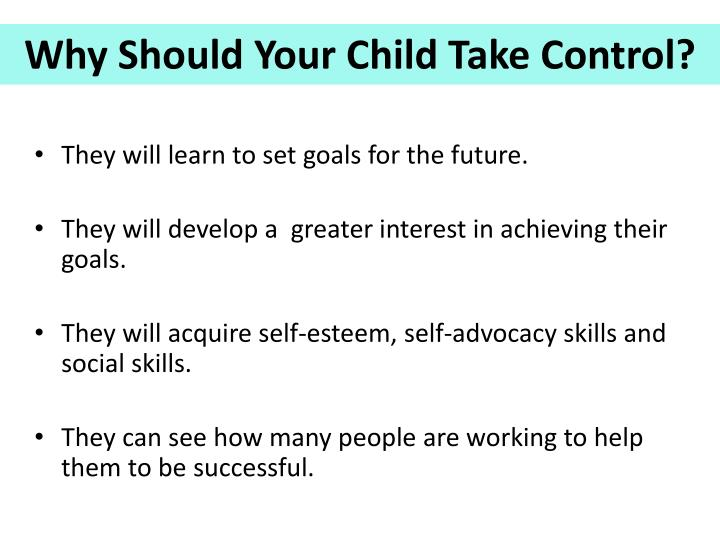 They will learn to set goals for the future