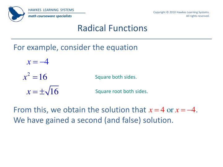 Radical Functions
