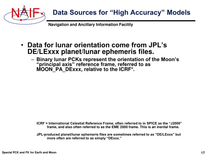 "Data Sources for ""High Accuracy"" Models"