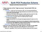 earth pck production scheme