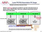 lunar fk pck association fk usage