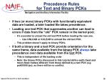 precedence rules for text and binary pcks