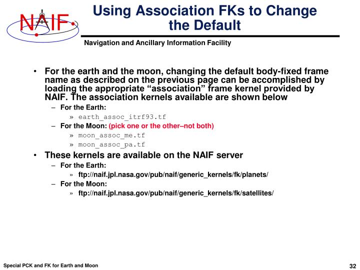 Using Association FKs to Change the Default