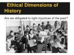 ethical dimensions of history1