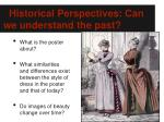 historical perspectives can we understand the past