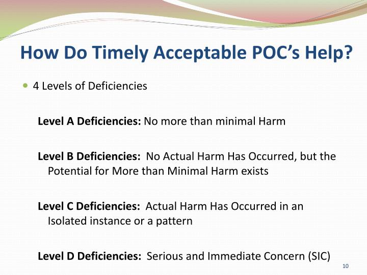 How Do Timely Acceptable POC's Help?
