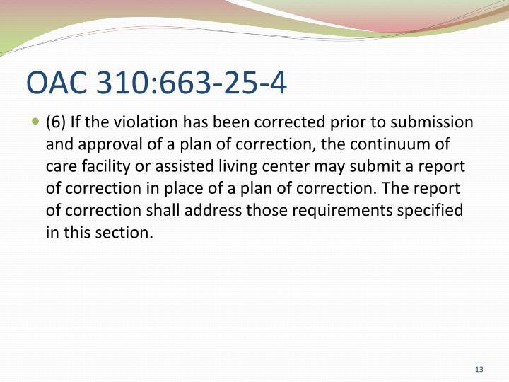 OAC 310:663-25-4