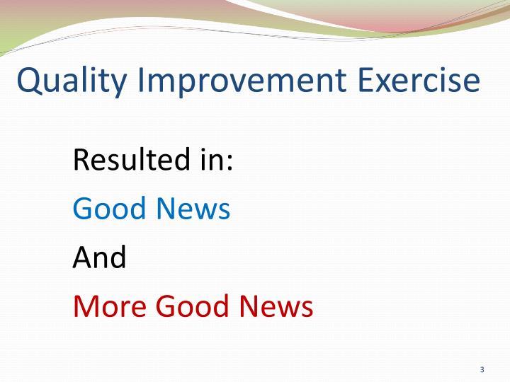 Quality Improvement Exercise