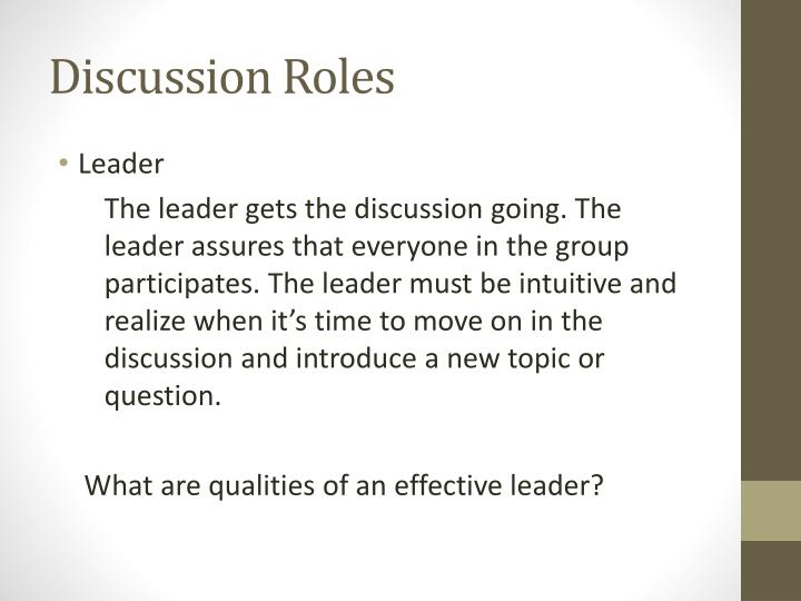 Discussion Roles