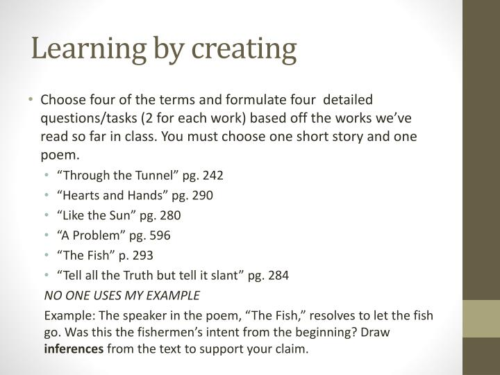 Learning by creating