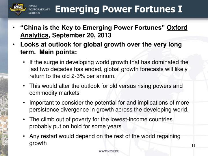 Emerging Power Fortunes I