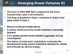 emerging power fortunes xi