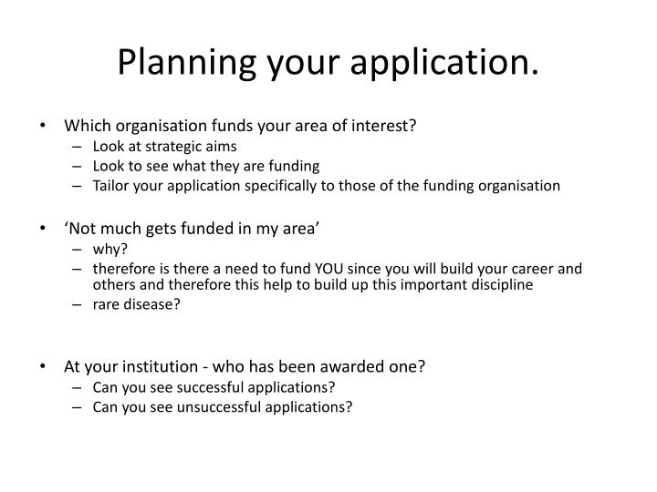 Planning your application.