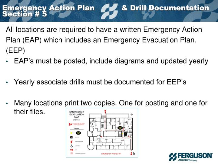 Emergency Action Plan           & Drill Documentation Section # 5
