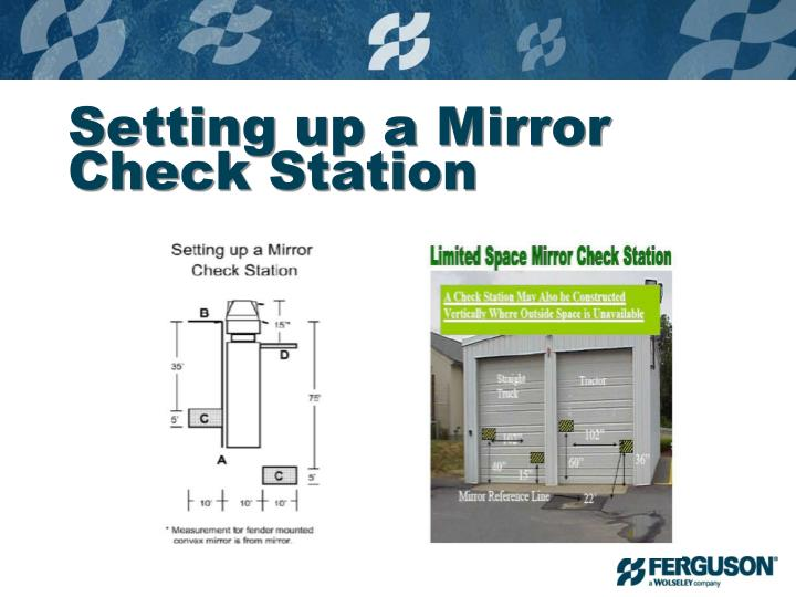 Setting up a Mirror Check Station