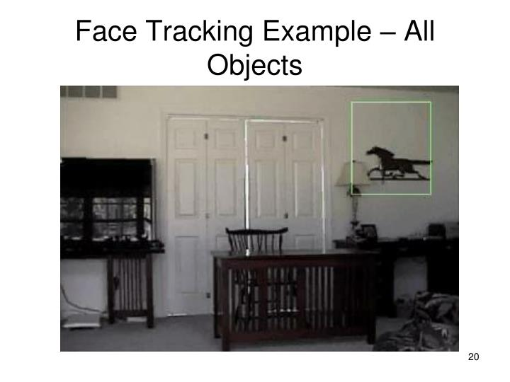 Face Tracking Example – All Objects