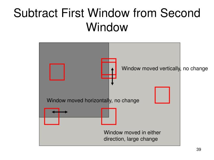 Subtract First Window from Second Window