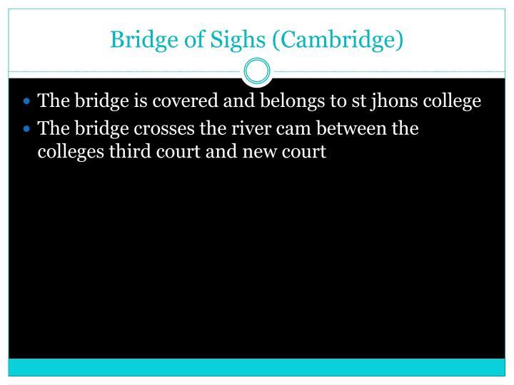 Bridge of Sighs (Cambridge)