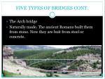five types of bridges cont1
