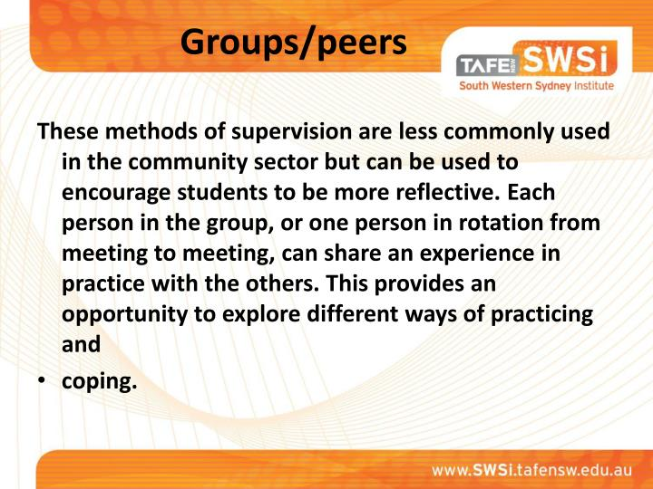 Groups/peers