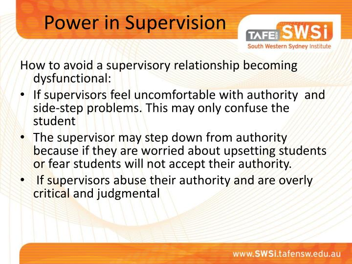 Power in Supervision