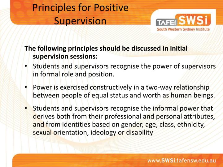Principles for Positive
