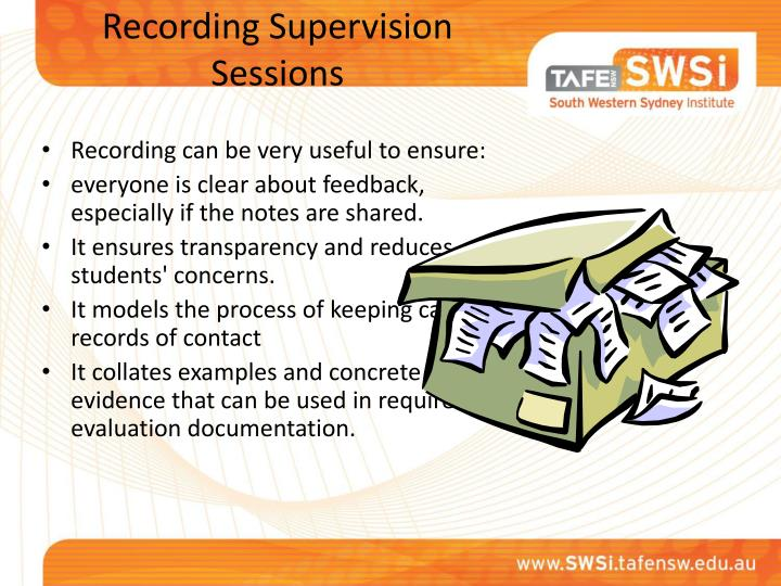 Recording Supervision Sessions