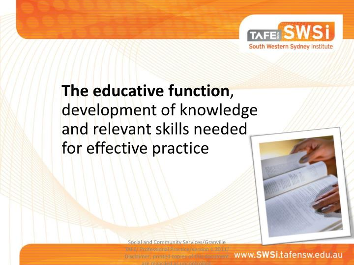 The educative function