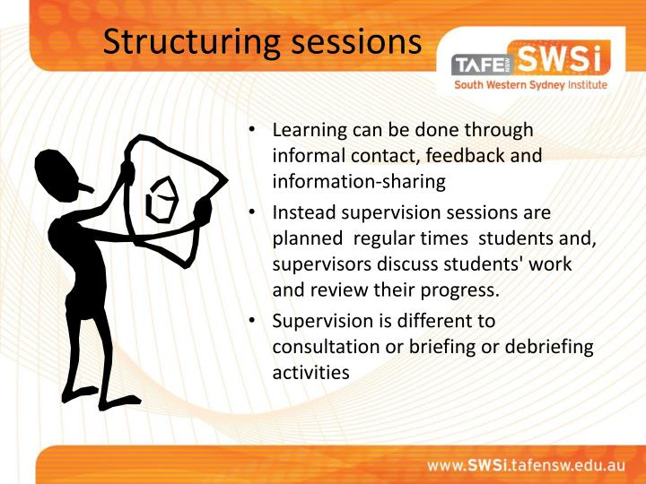 Structuring sessions