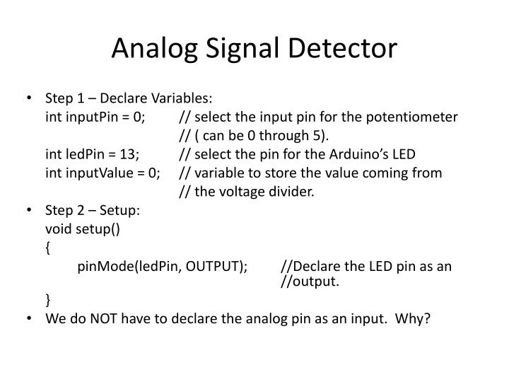Analog Signal Detector