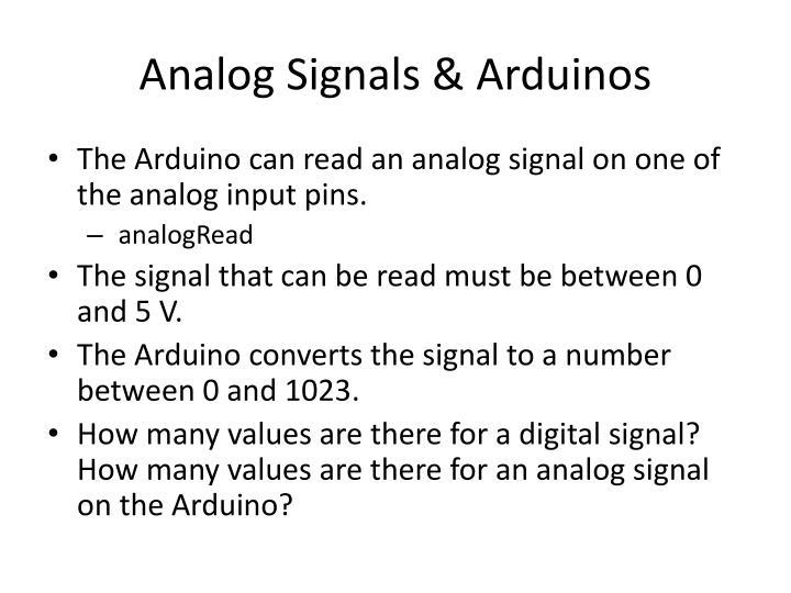 Analog Signals &