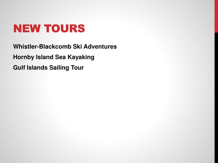 New Tours
