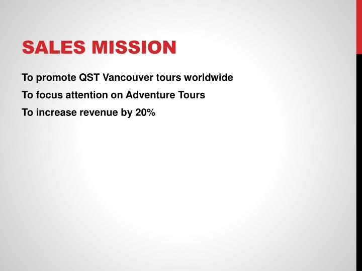 Sales Mission