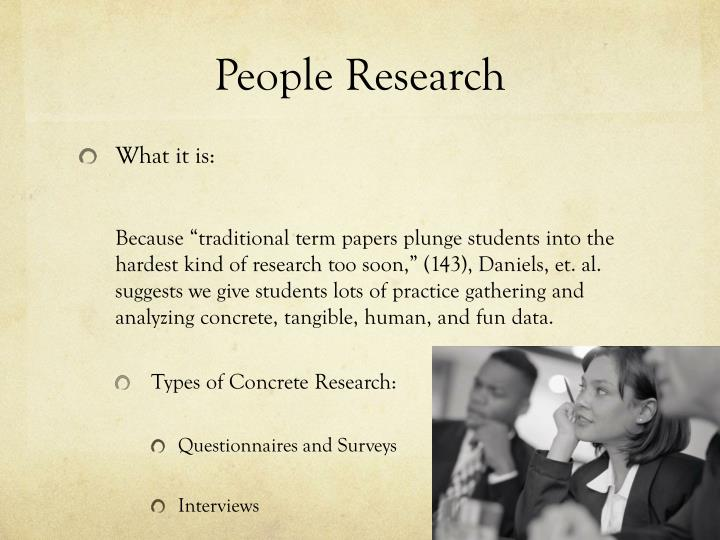 People research
