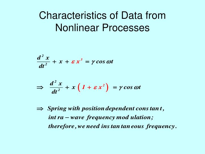 Characteristics of Data from