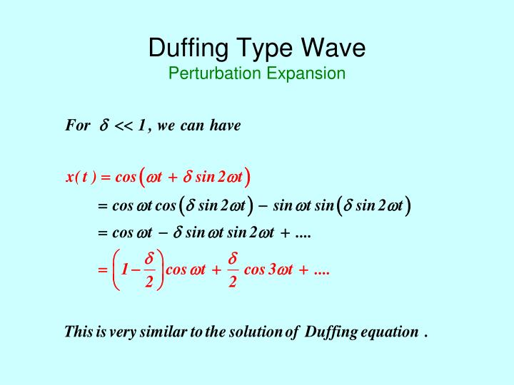 Duffing Type Wave