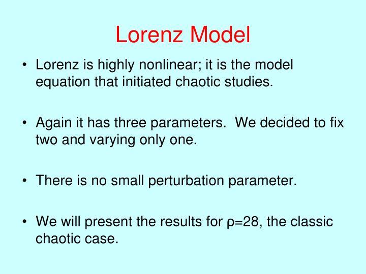 Lorenz Model