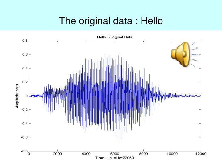 The original data : Hello