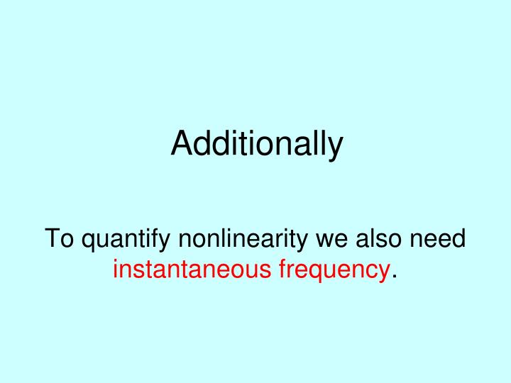 To quantify nonlinearity