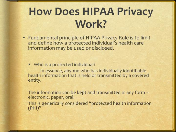 How Does HIPAA Privacy Work?