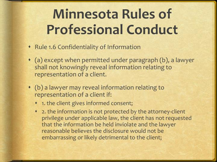 Minnesota Rules of Professional Conduct