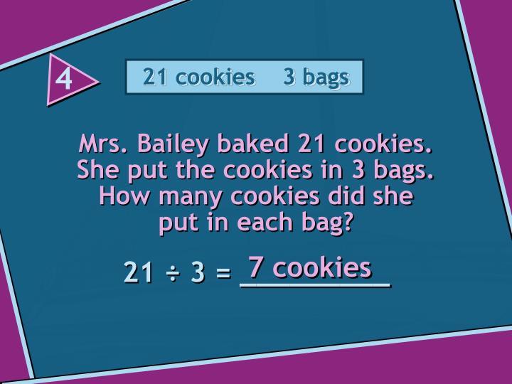 21 cookies    3 bags