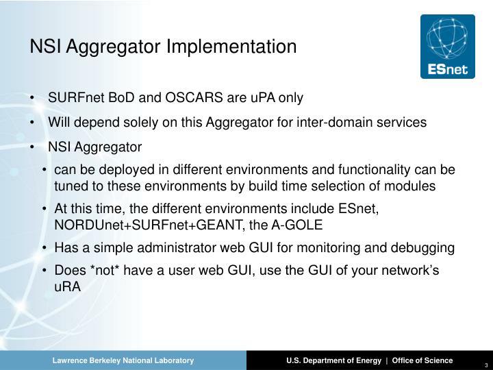 NSI Aggregator Implementation